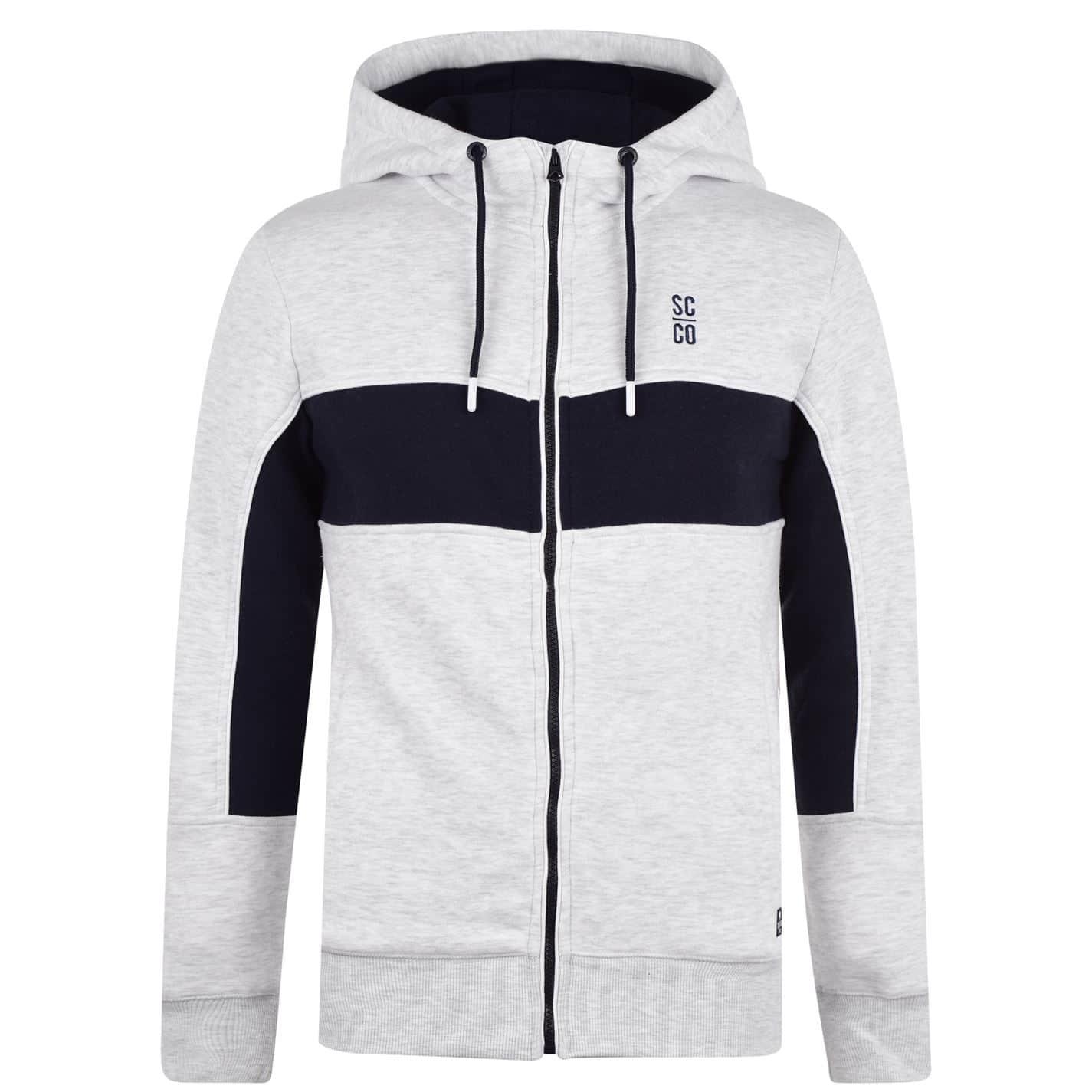 SoulCal Mens Colour Block Zip Hoodie Hoody Hooded Top Long Sleeve Lightweight