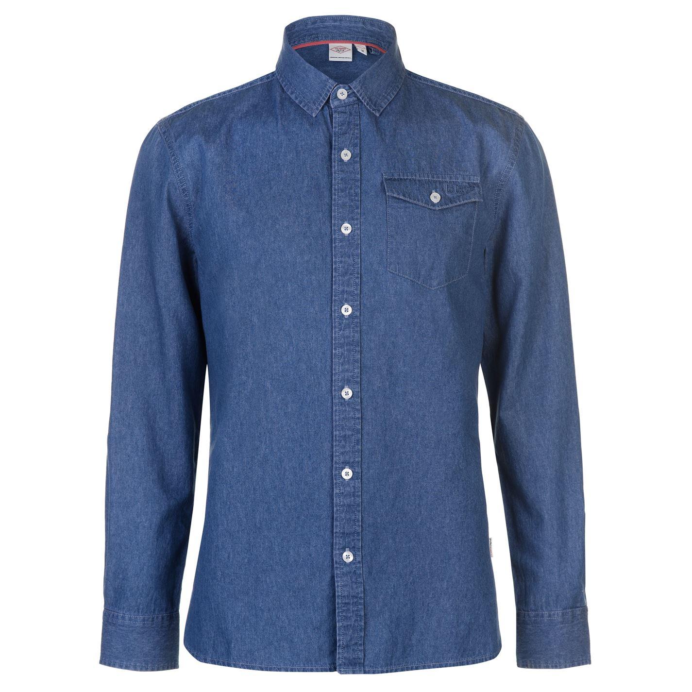 Lee Cooper Long Sleeve pánská denimová košile