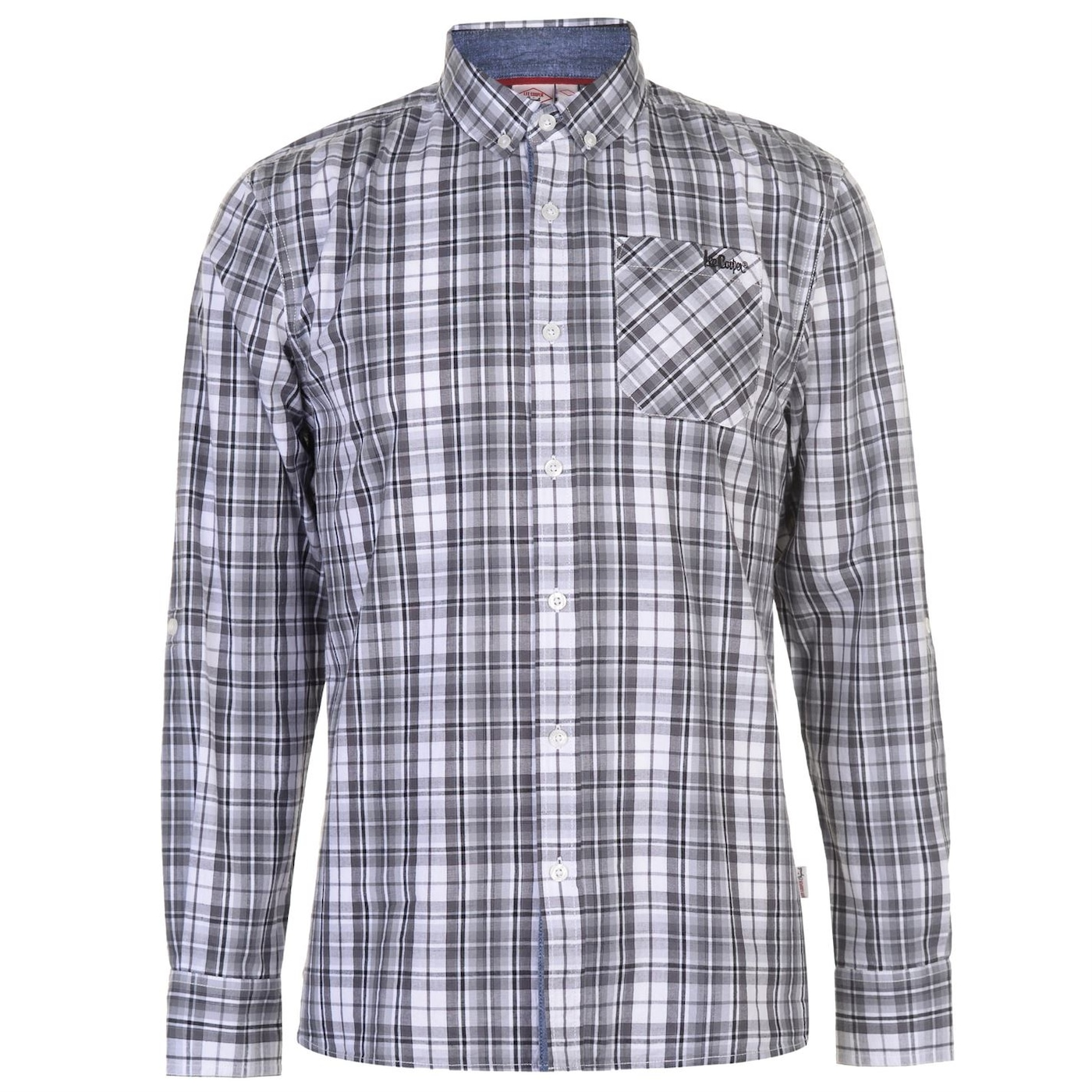 Lee Cooper Long Sleeve Check Shirt pánske