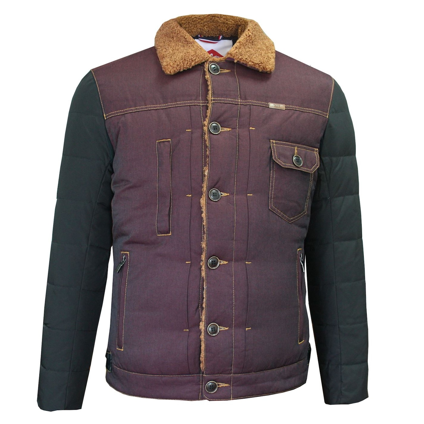 Lee Cooper Sherpa Contrast Jacket Mens