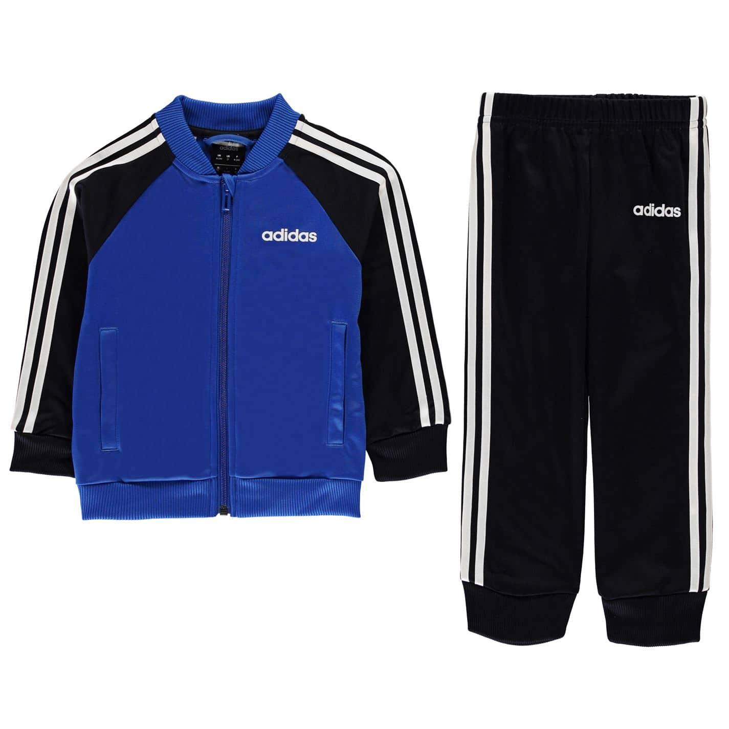 Adidas Boy 3 Stripe Poly Tracksuit