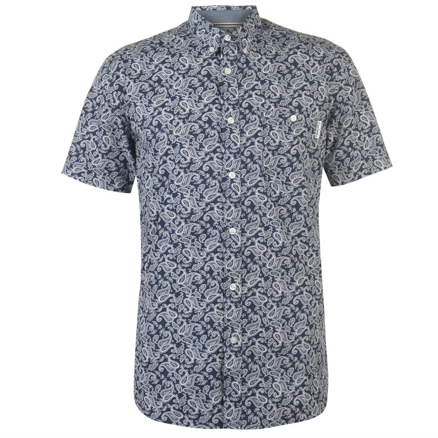Pierre Cardin Short Sleeve Geometric Shirt Mens