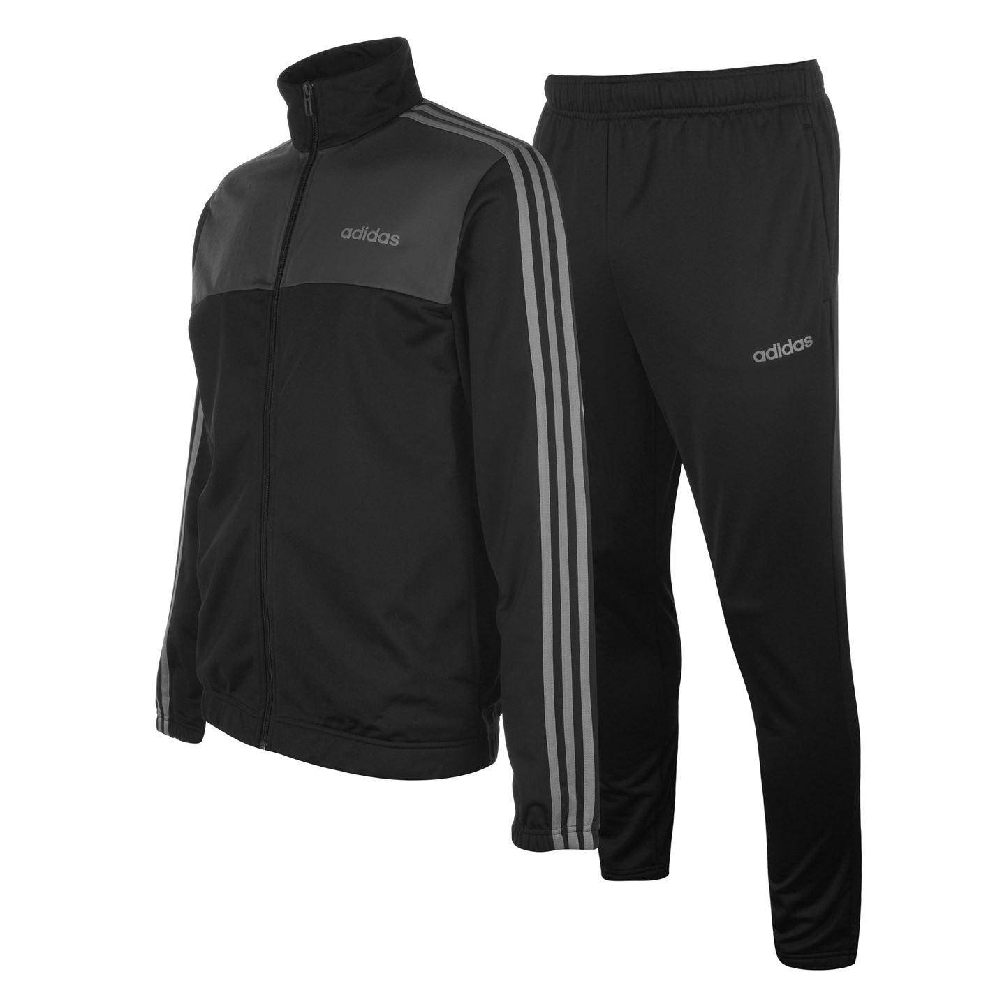 Adidas 3 Stripe Basic Poly pánska tepláková súprava