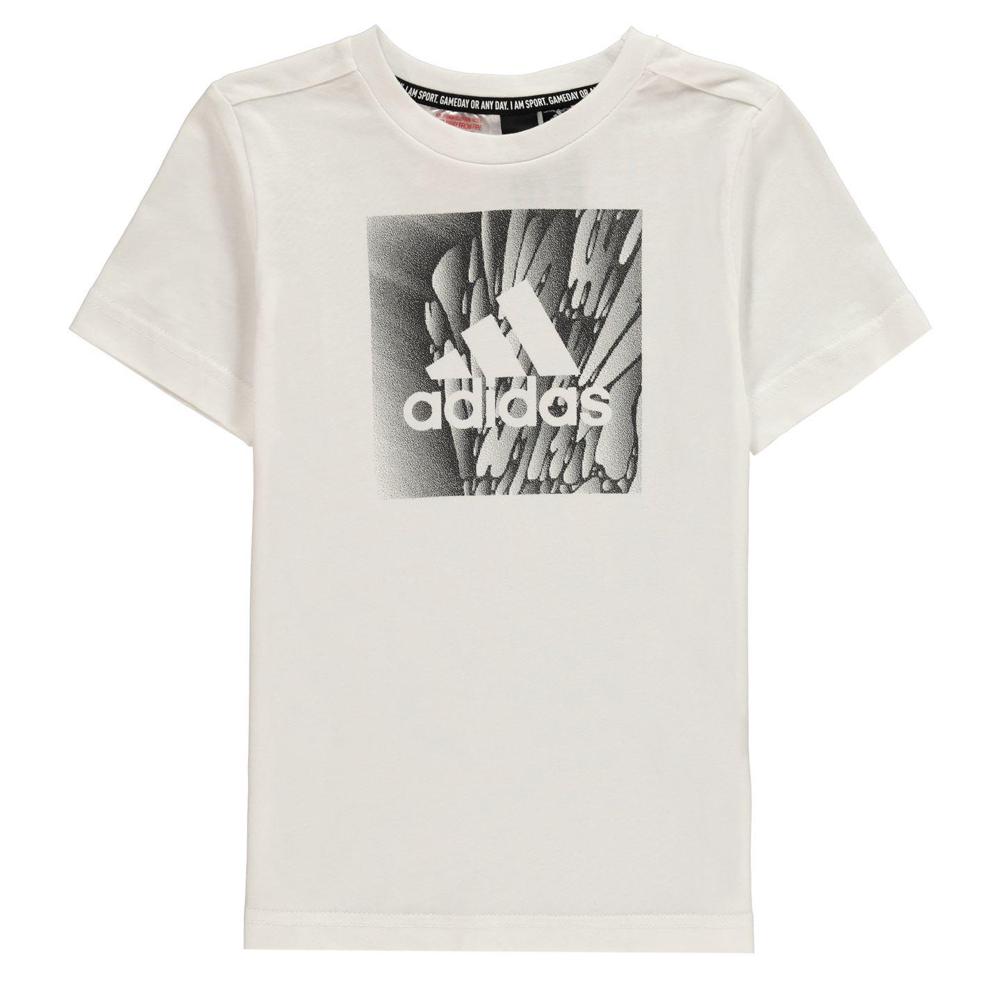 Adidas Box Graphic T Shirt Junior Boys
