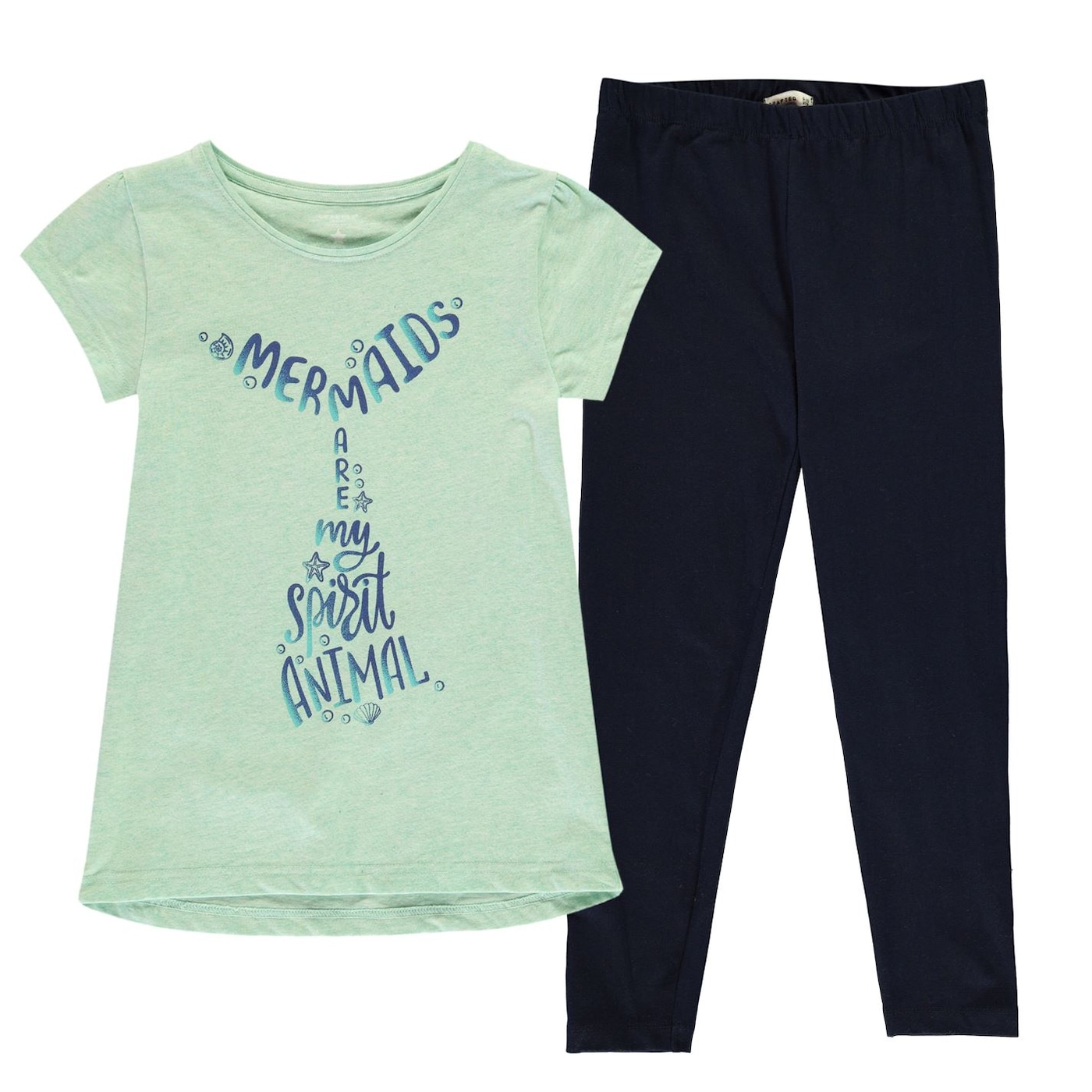 Crafted T Shirt & Leggings Set Junior Girls