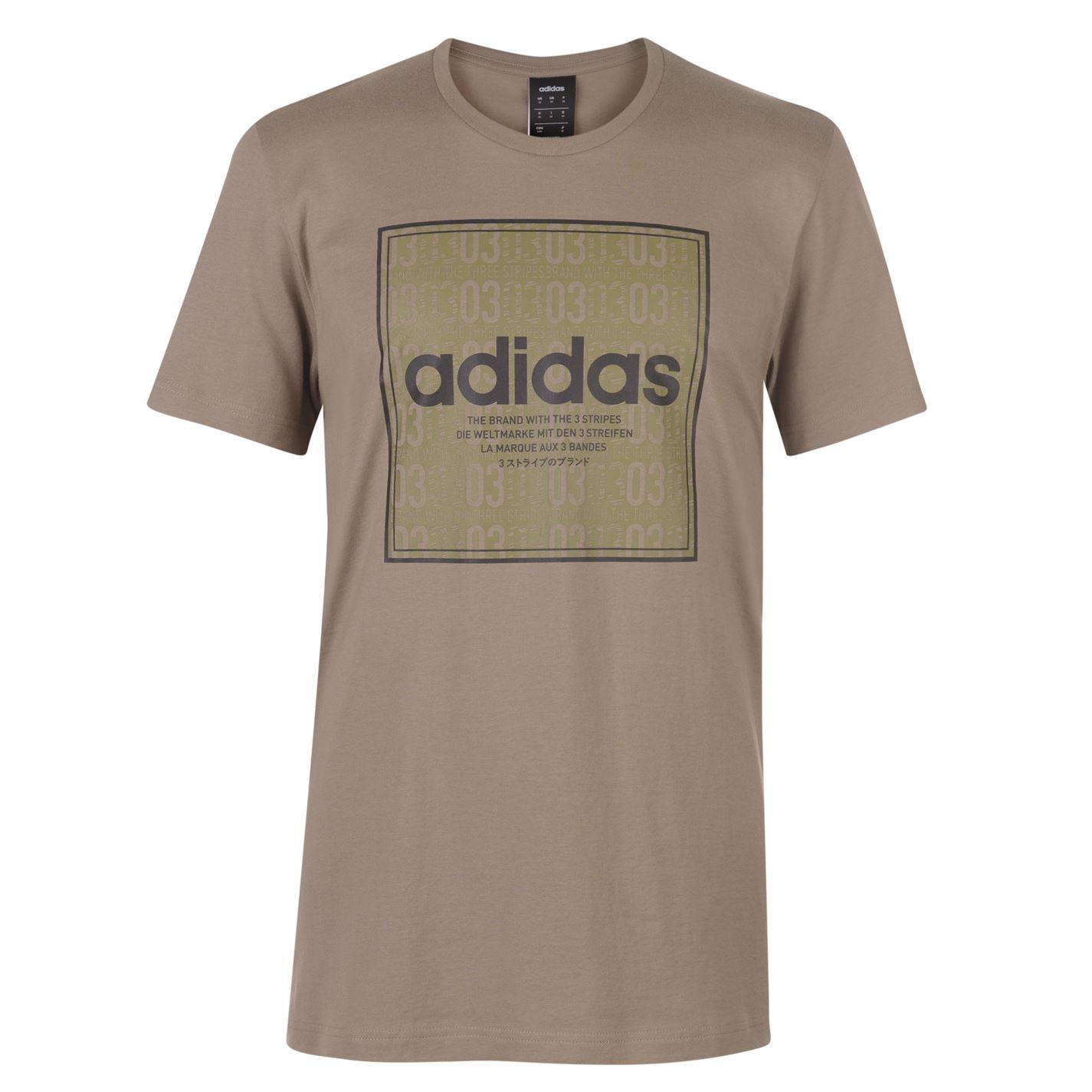 Adidas Box Linear Texture T Shirt Mens