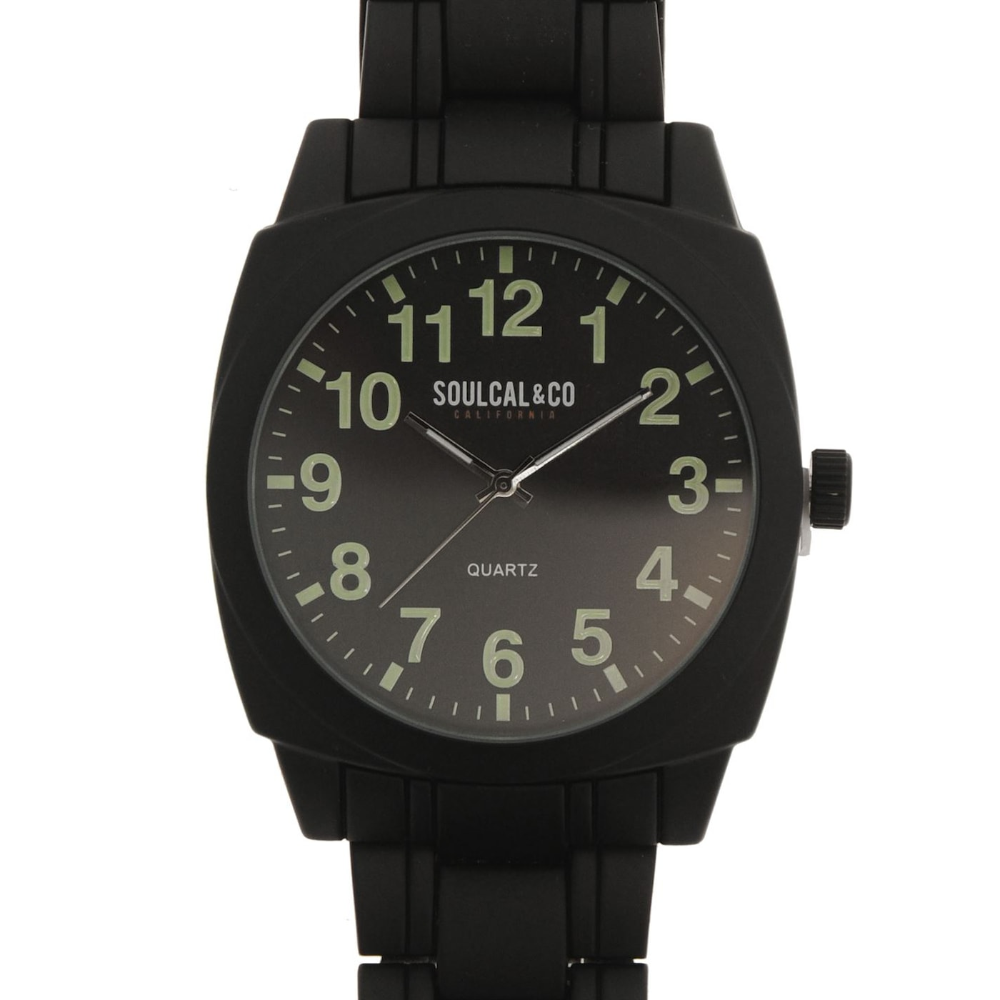 SoulCal Matte Steel Watch Mens