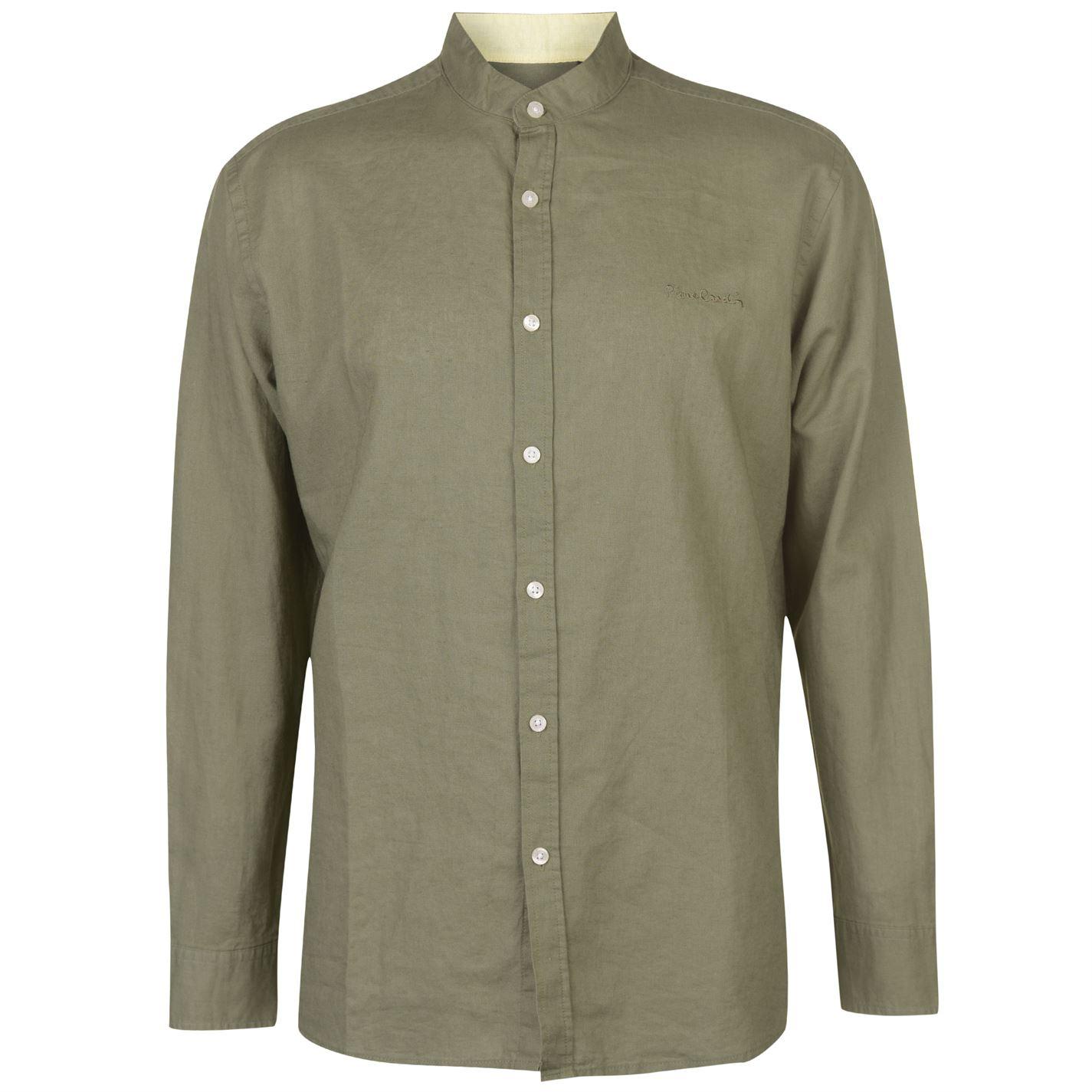 Pierre Cardin Long Sleeve Linen Shirt pánské