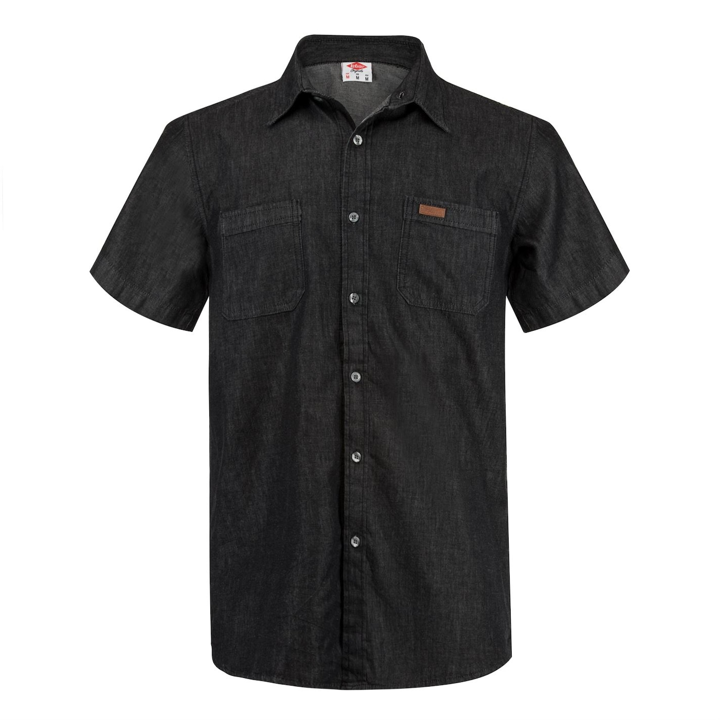 Lee Cooper Short Sleeve Denim Shirt Mens