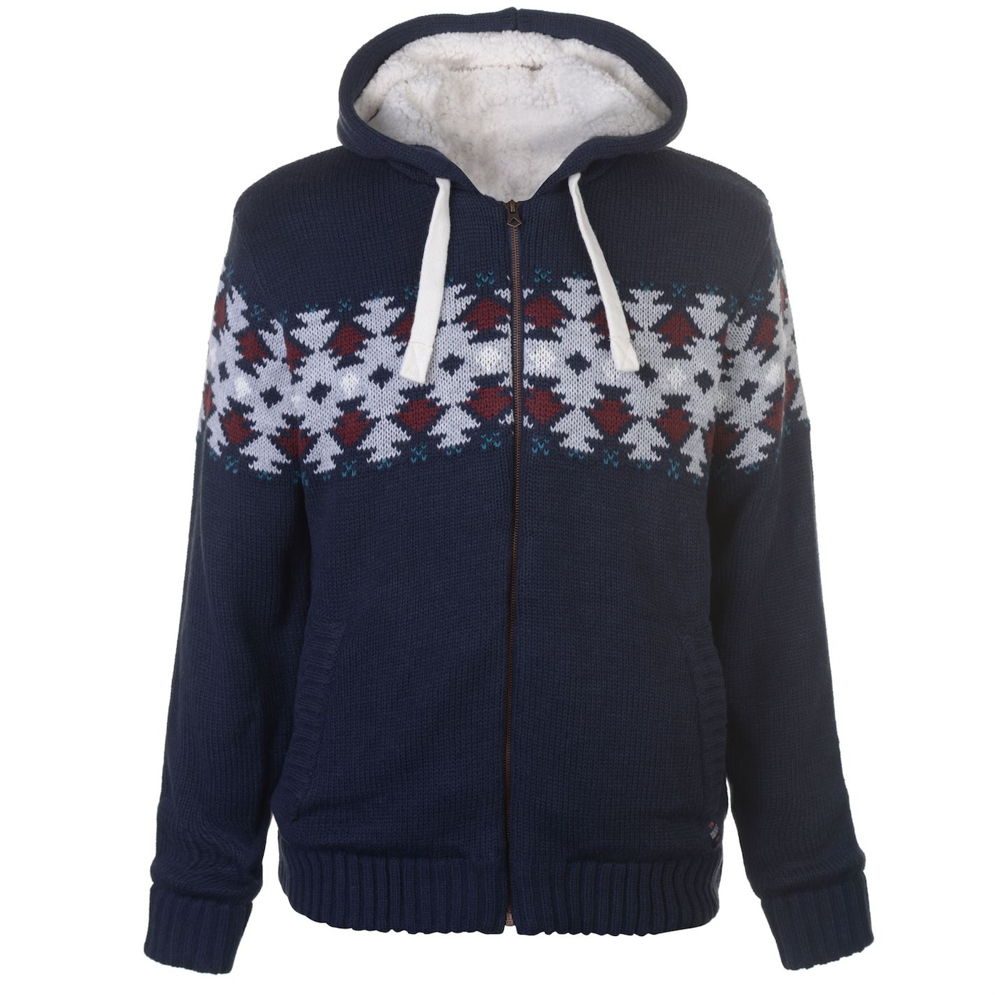 SoulCal Isle Knit Lined Hoody Mens