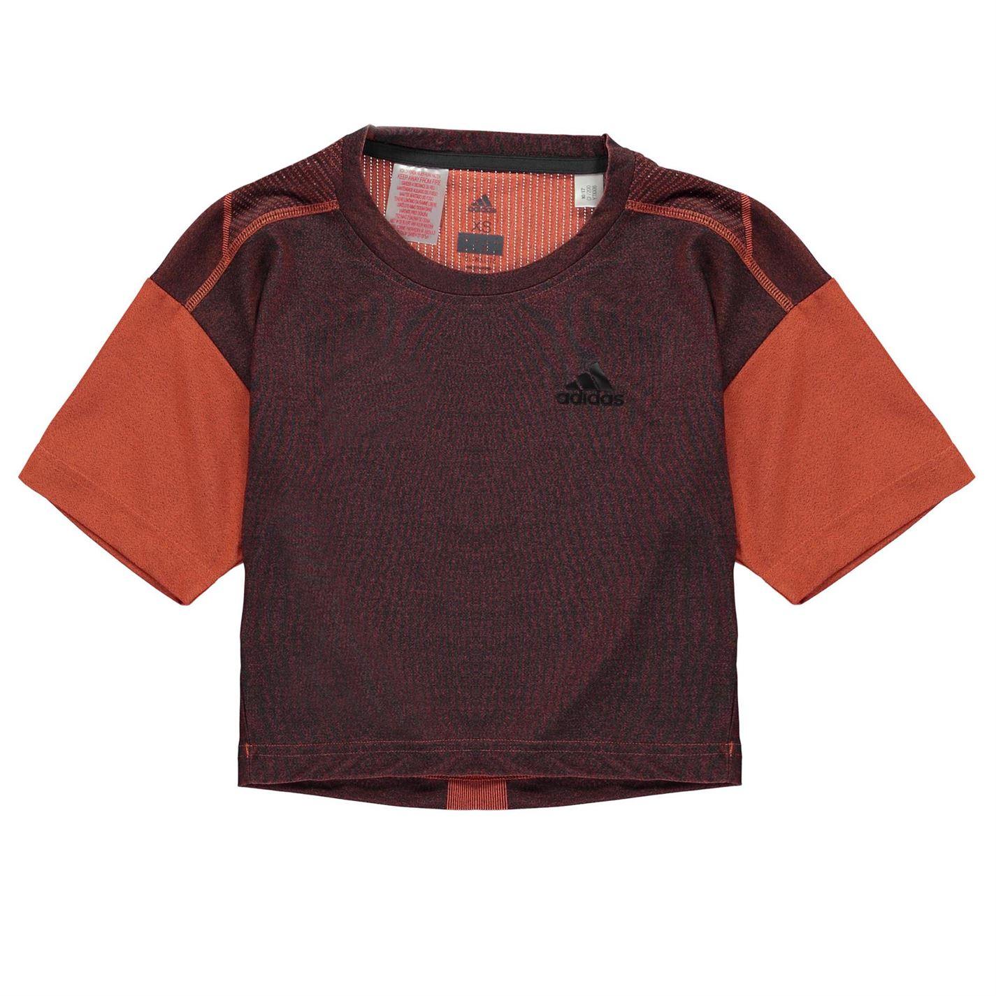 Adidas Training Knit T Shirt Junior Girls