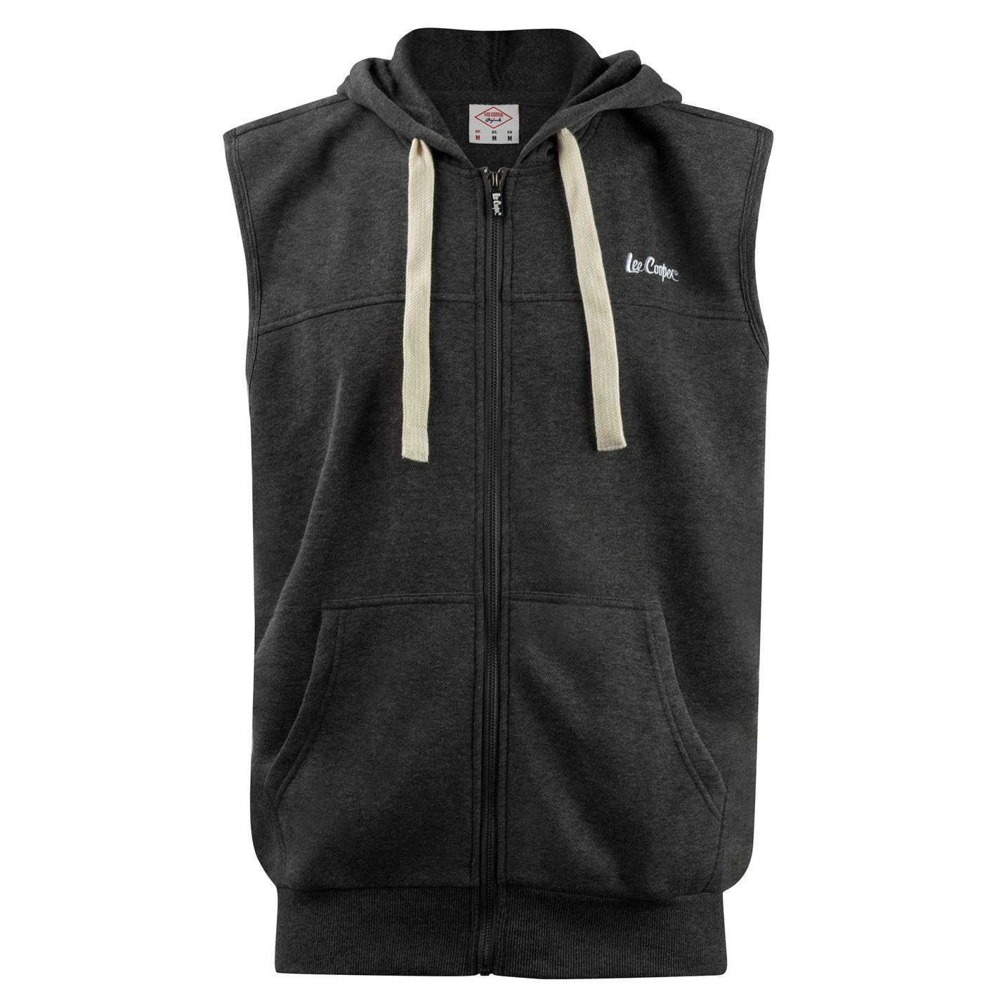 Lee Cooper pánská vesta s kapucí