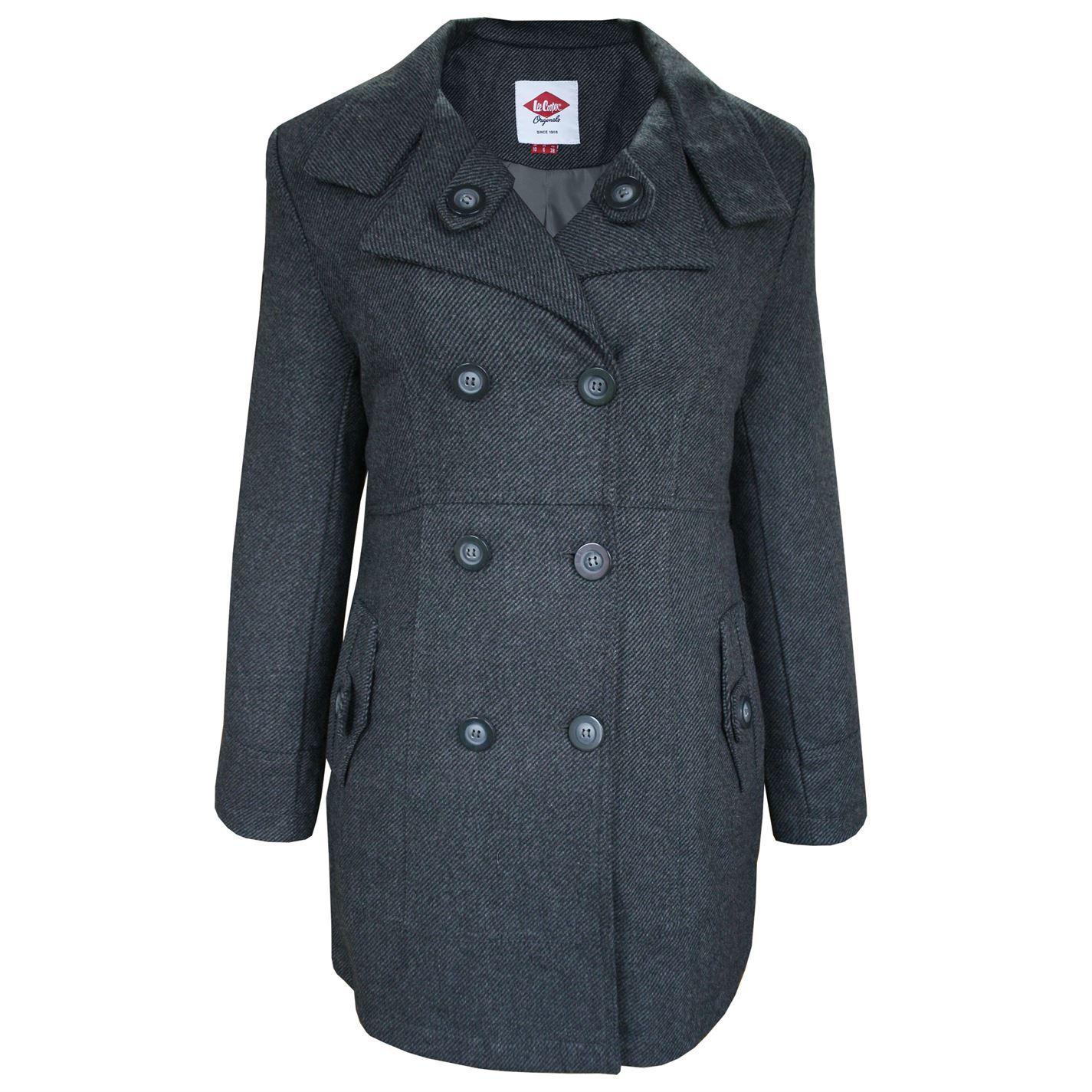 Dámsky kabát Lee Cooper Wool Blend