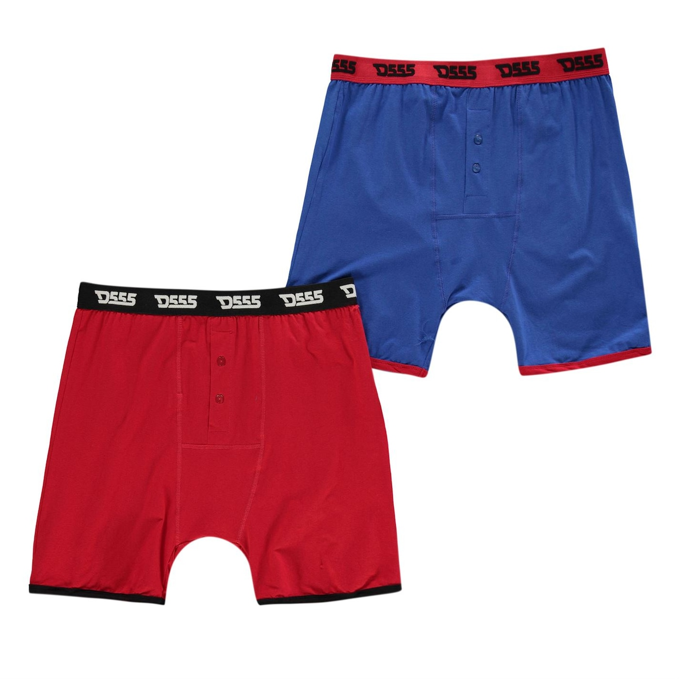 D555 Novelty 2 Pack Boxers Mens