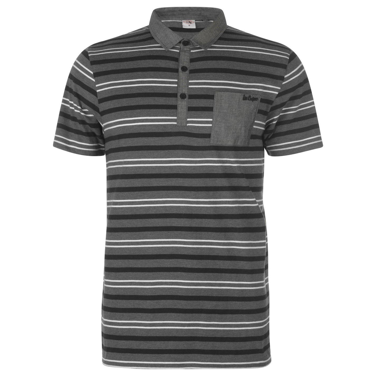 Lee Cooper Stripe Polo Shirt Mens