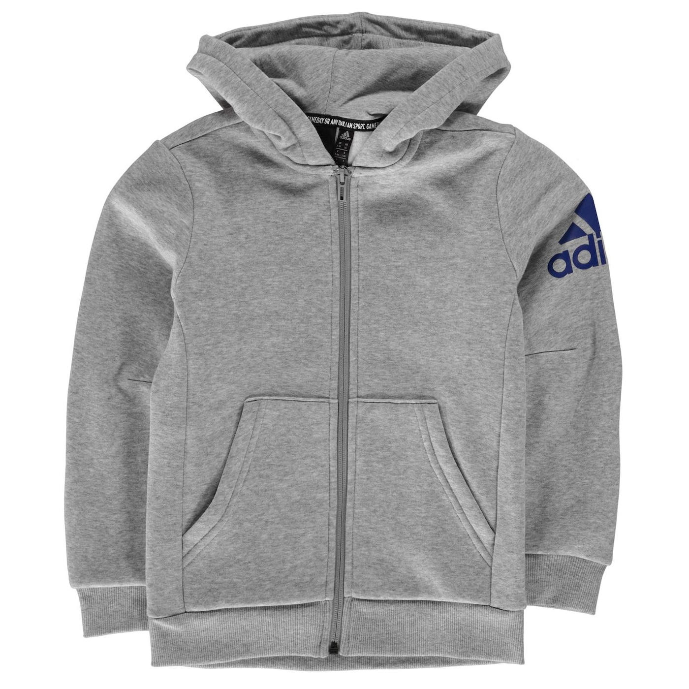 Adidas Logo Full Zip Hoodie Junior Boys