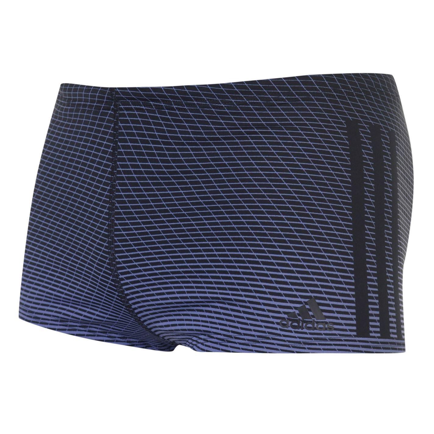 Adidas 3 Stripes Graphic Swim Boxers Mens