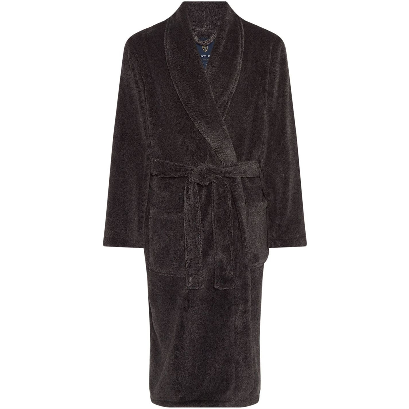Howick Classic Charcoal Marl Fleece Dressing Gown