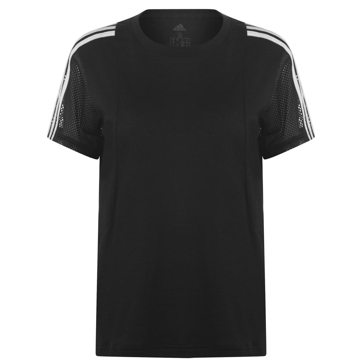 Adidas 3 Stripe Mesh T Shirt Ladies