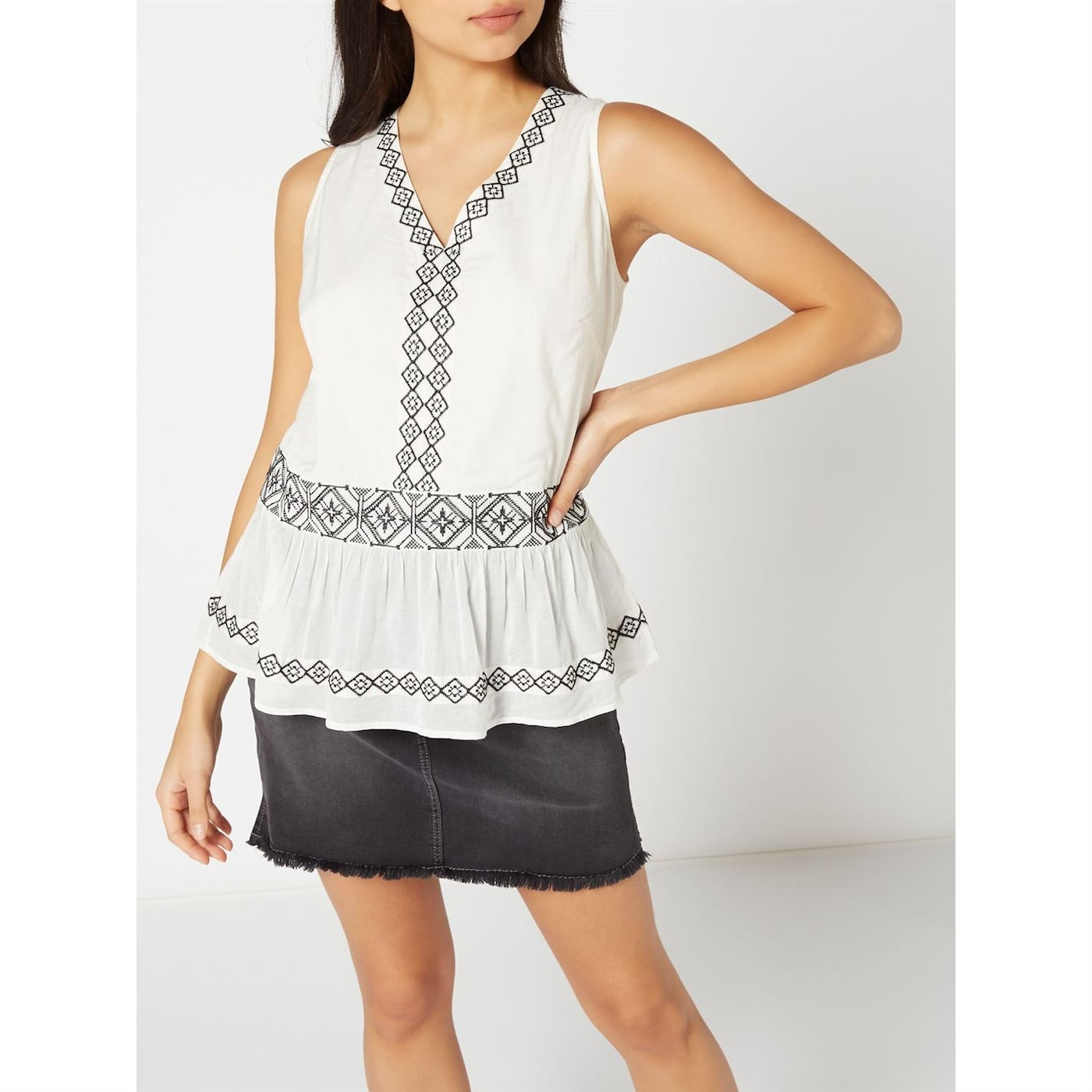 Woven Tops Grace embroidered top