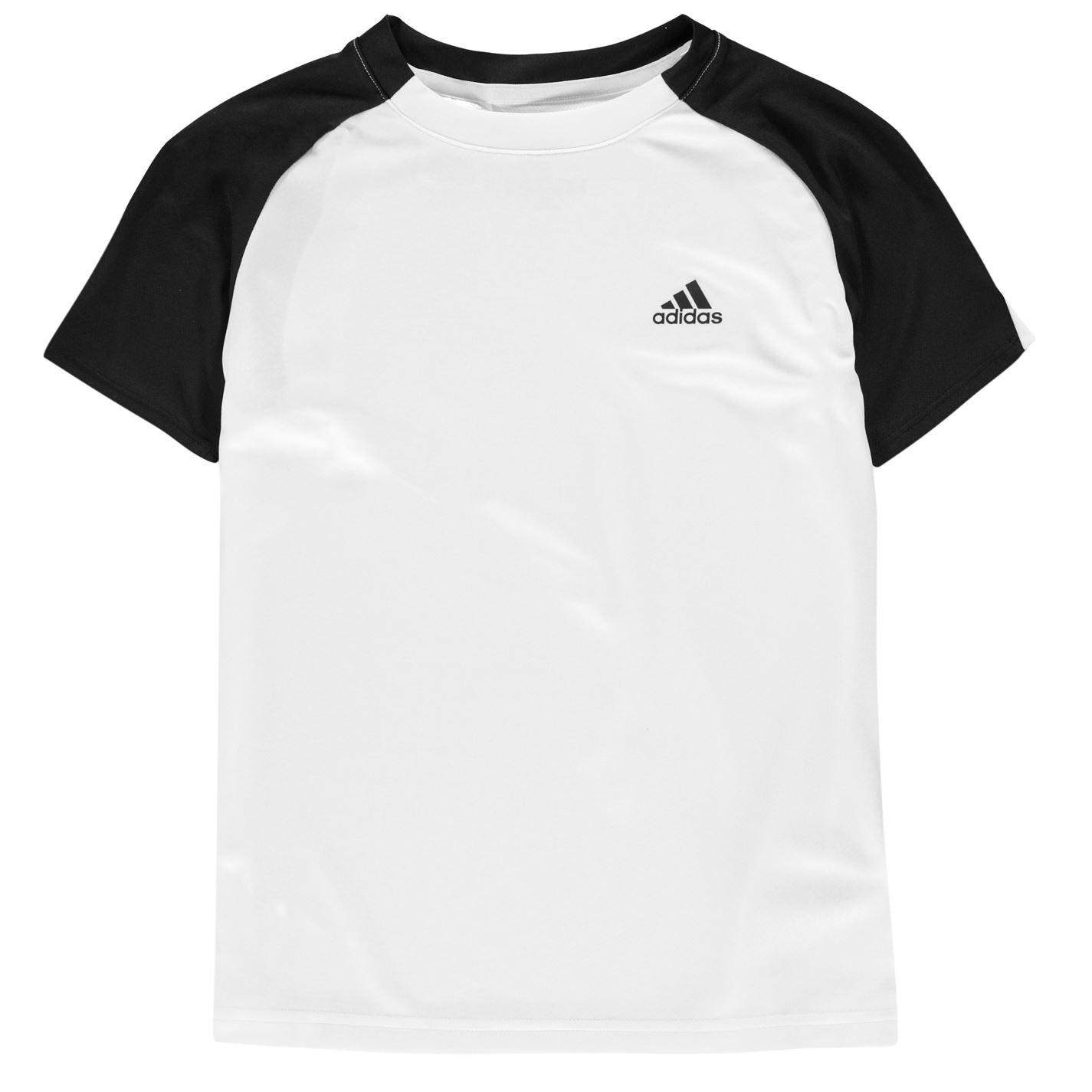 adidas NewBox Linea T Shirt Youngster Boys Crew Neck Tee Top Short Sleeve Cotton