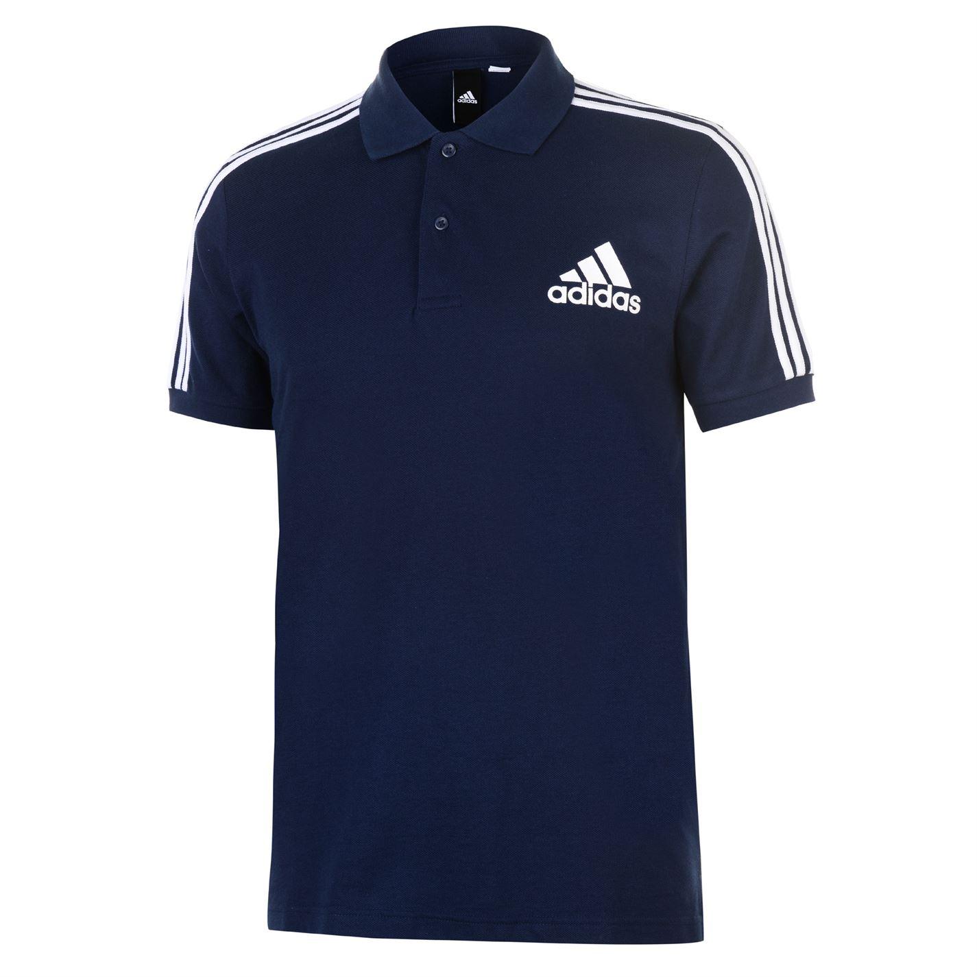 Pánska polokošeľa Adidas 3 Stripes Logo