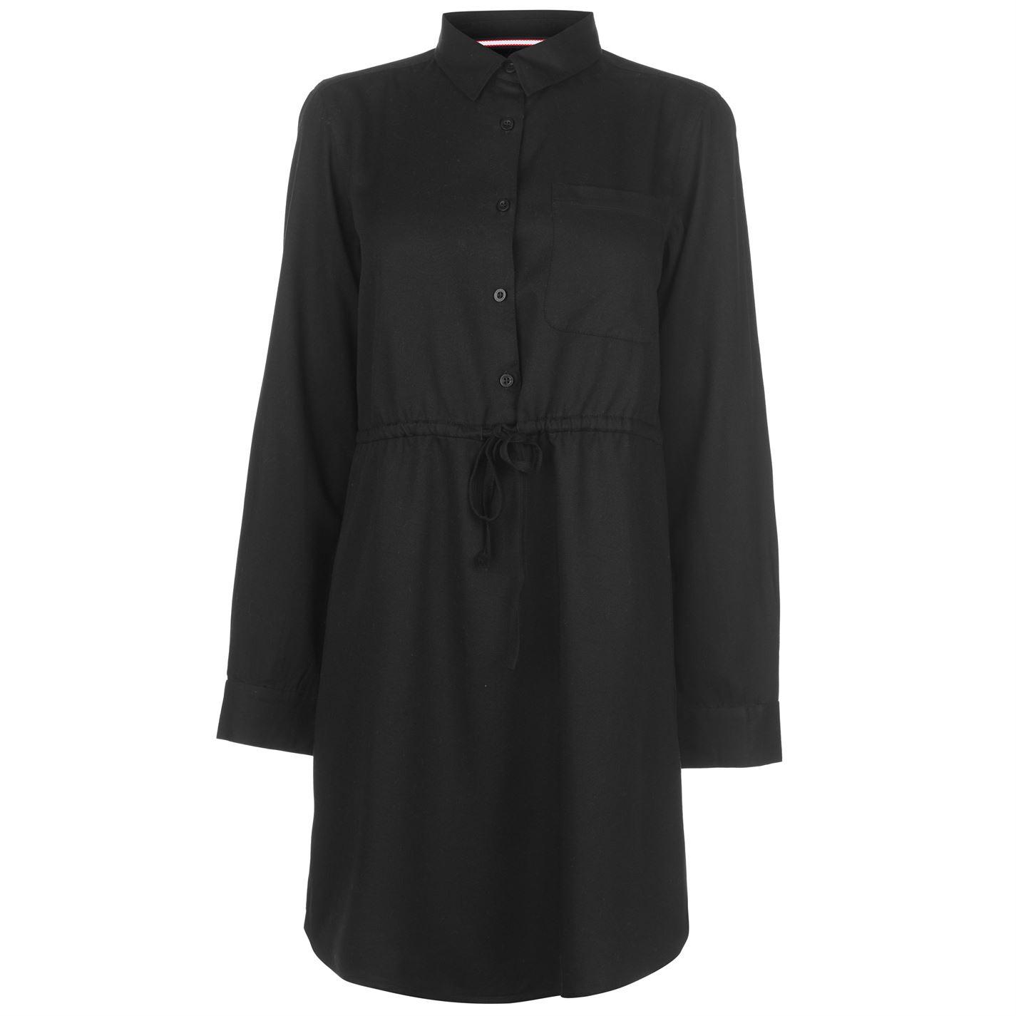 Kangol Long Sleeve Shirt Dress dámske