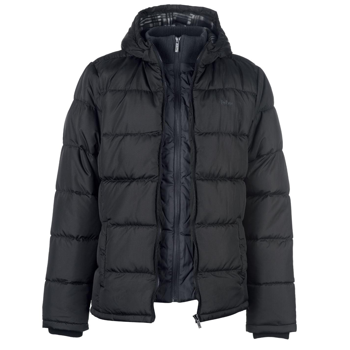 Lee Cooper vyztoužena pánská bunda s dvěma zipy