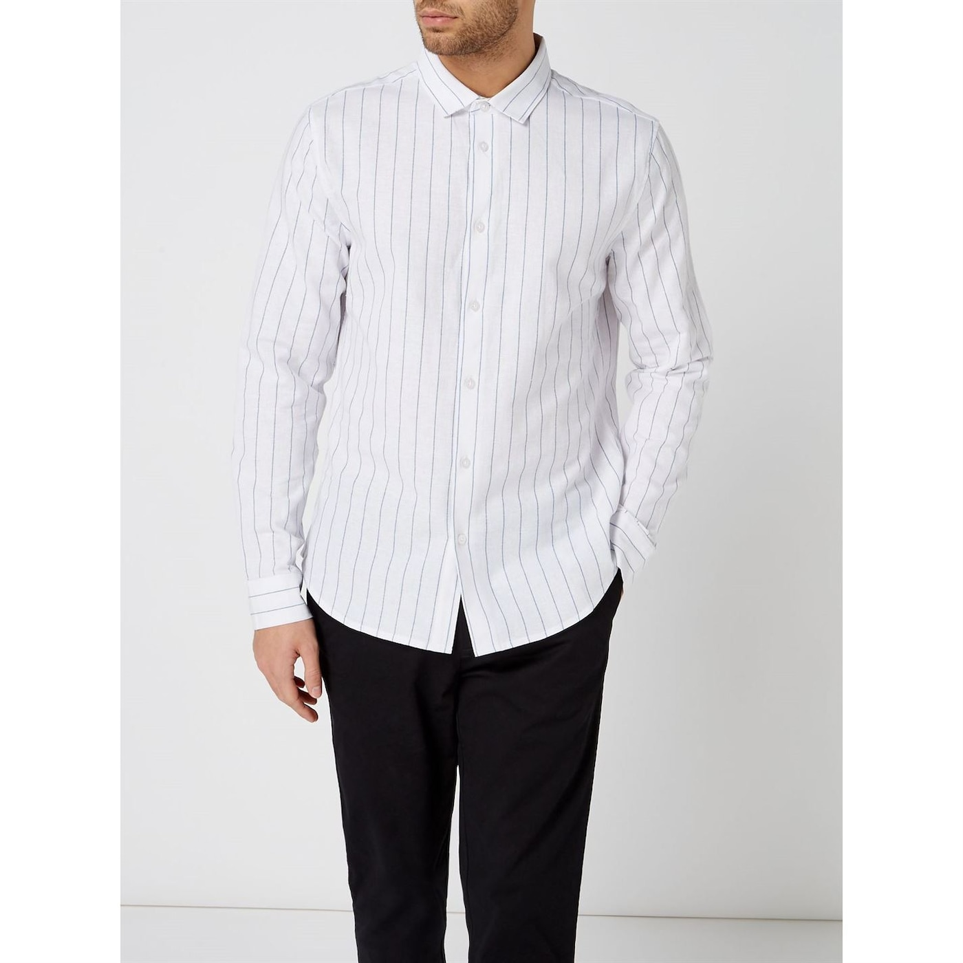 Linea Fleet Cotton Linen Stripe Shirt