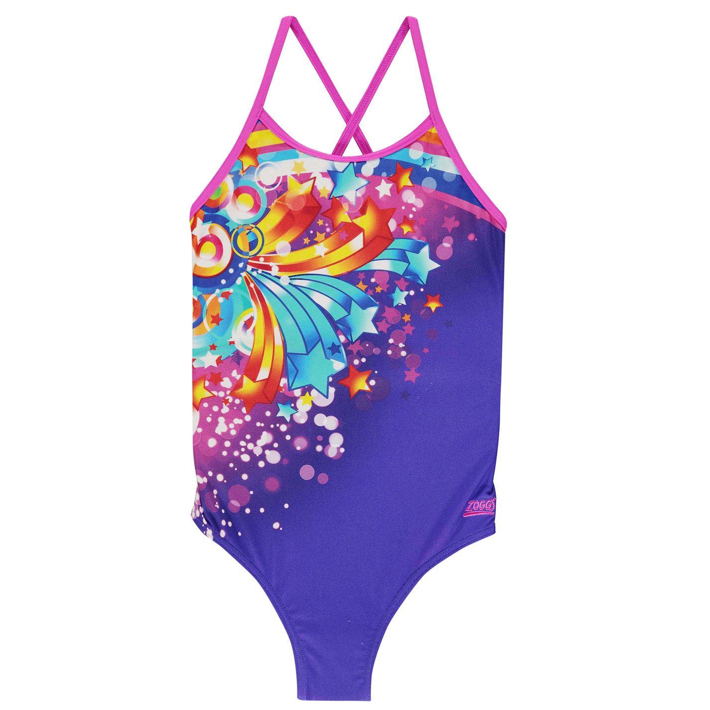 Zoggs Shooting Star Swimsuit Junior Girls