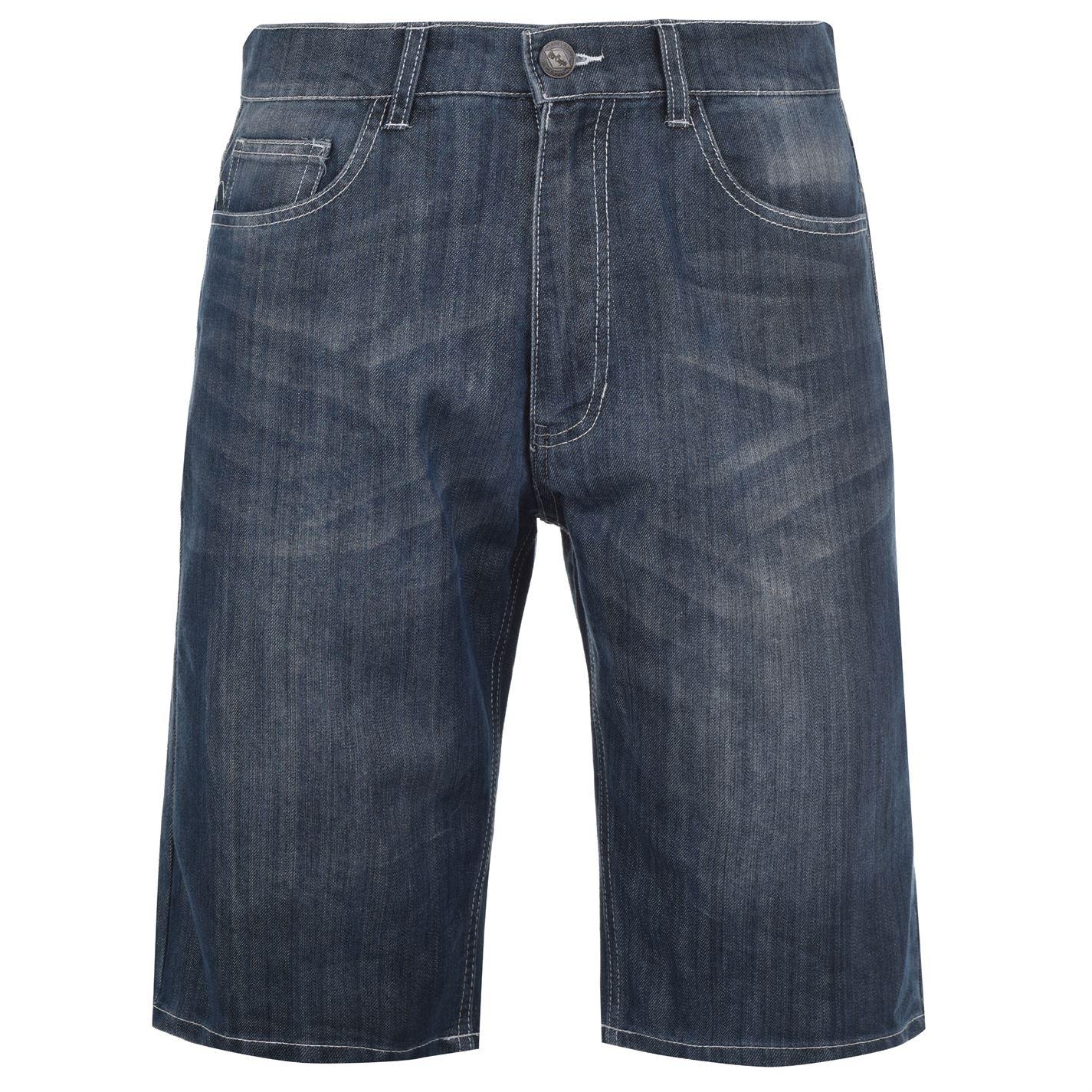 Lee Cooper Washed Denim Shorts Mens