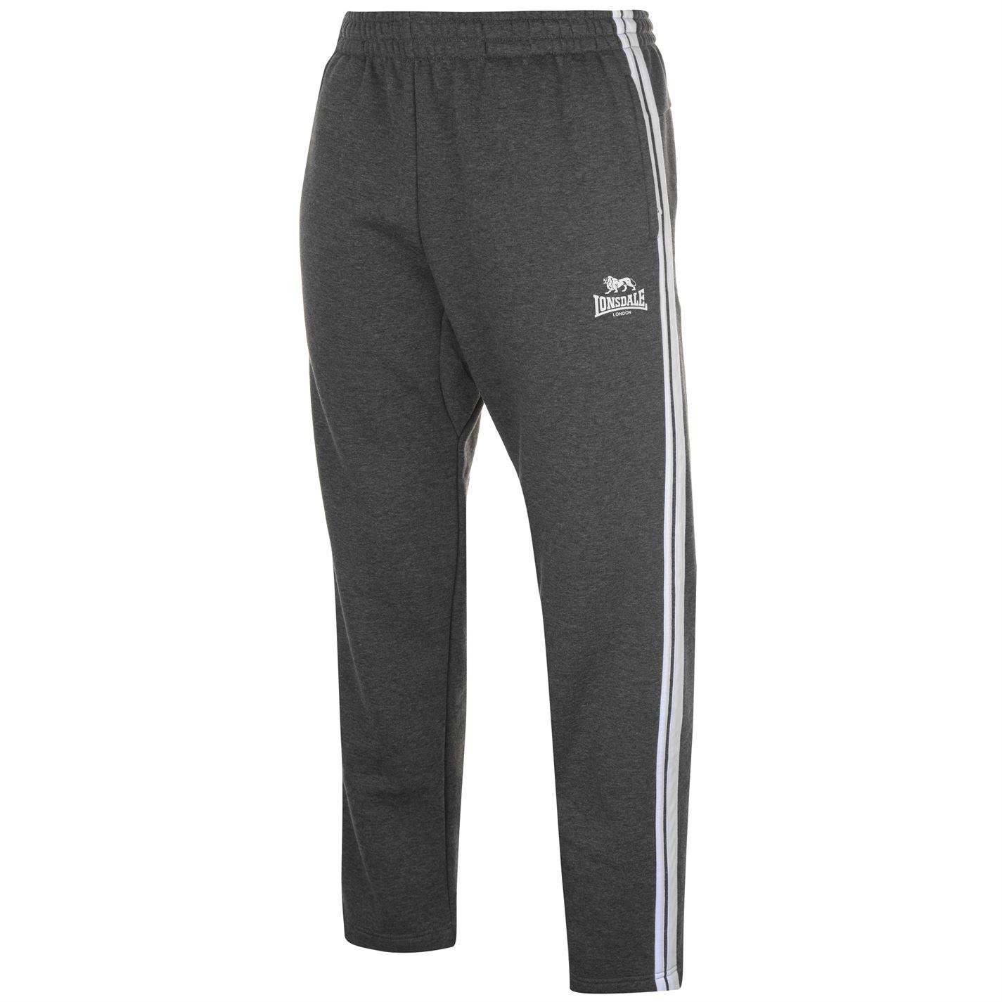 Lonsdale 2 Stripe Open Hem Jogging Pants pánské