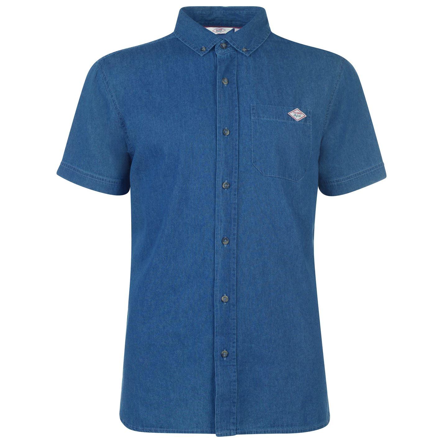 Lee Cooper Short Sleeve Denim Mid Shirt