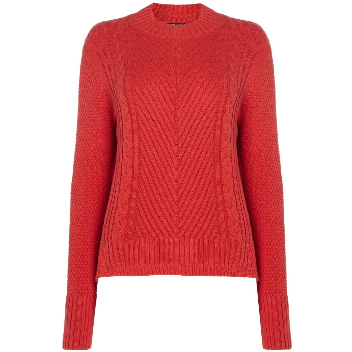 Therapy Lola High Neck Cable Stepped Hem Jumper