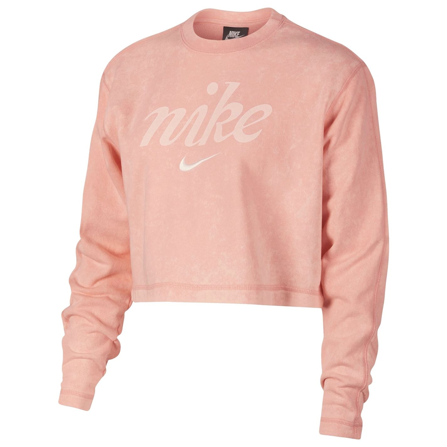 Nike Washed Crop Sweatshirt Ladies