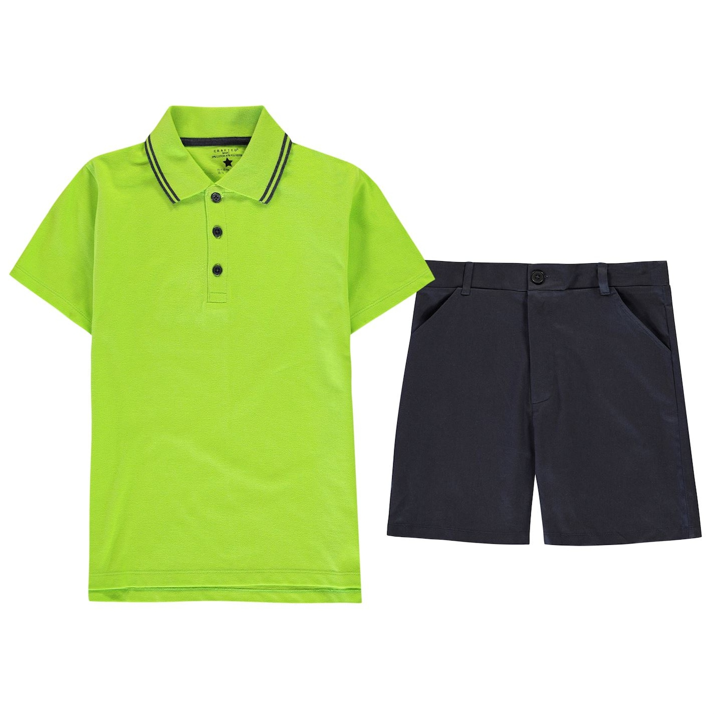 Crafted Junior Boys Chino and Polo Shirt Set