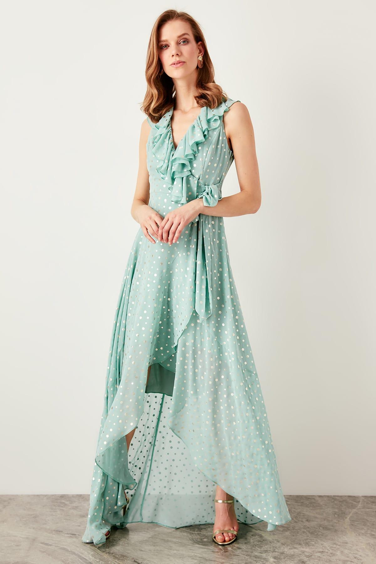Trendyol Mint Polka Dots Dress