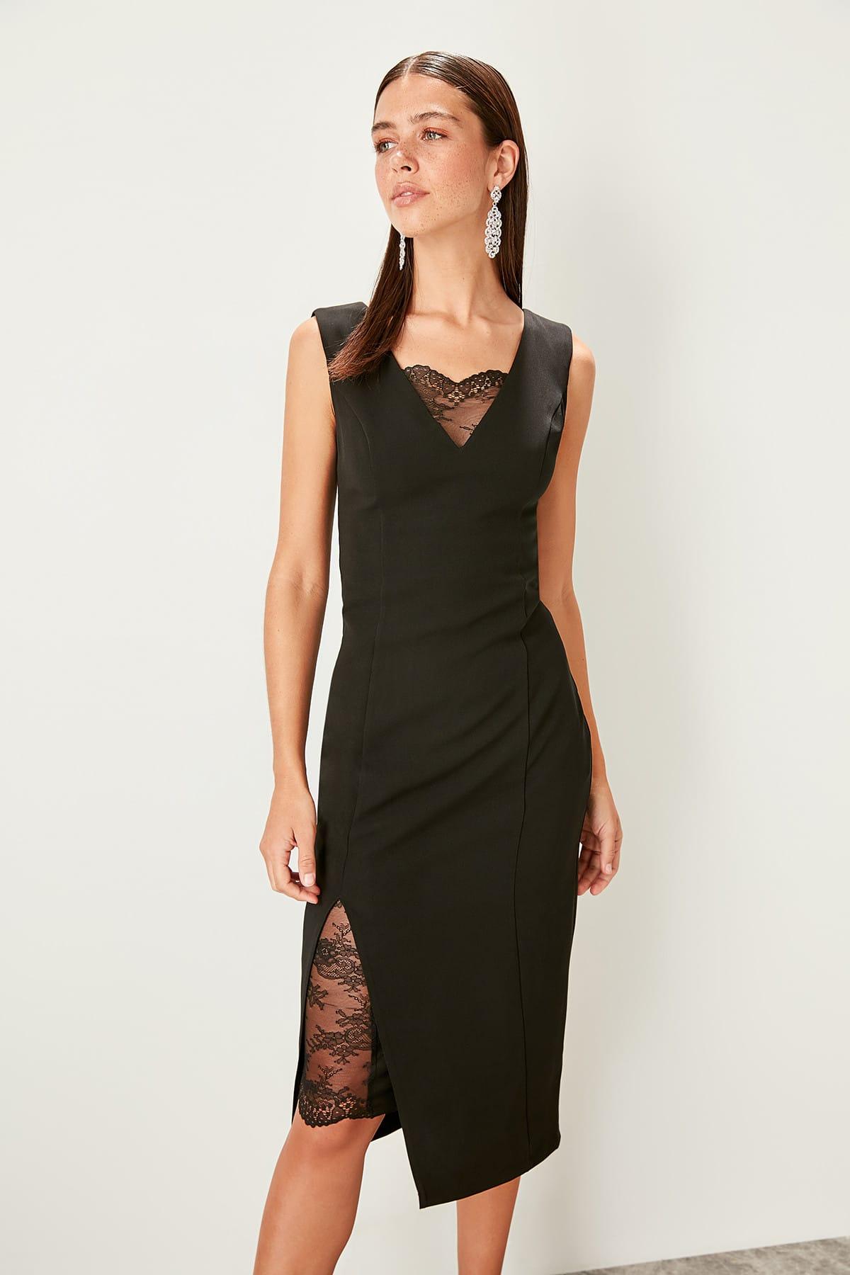 Trendyol dámske šaty s čipkou