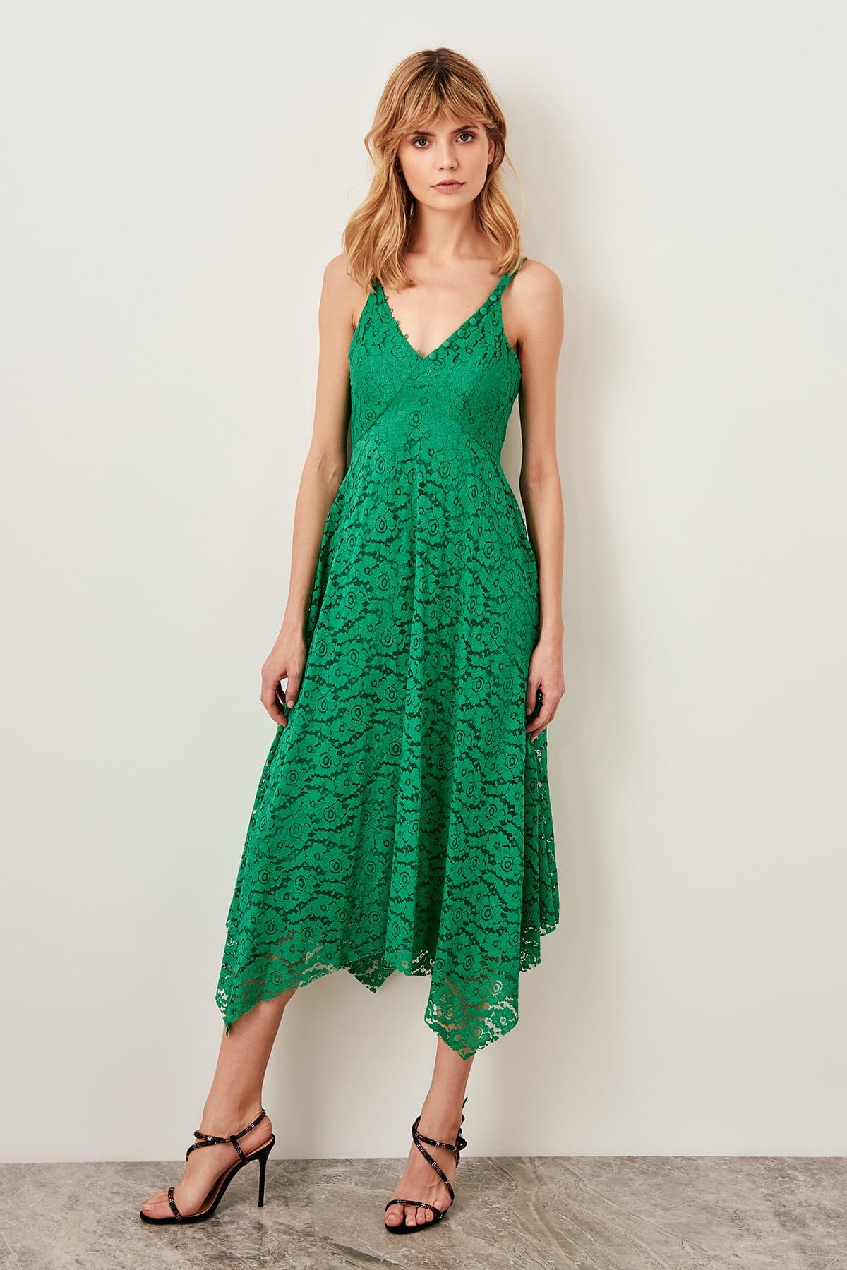 Trendyol dámské čipkované šaty