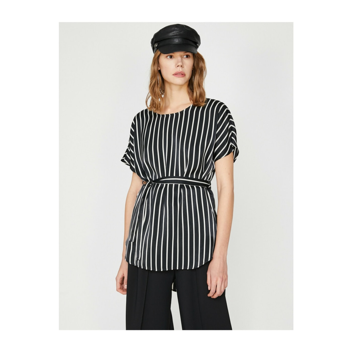 Koton Women Black Striped Blouse