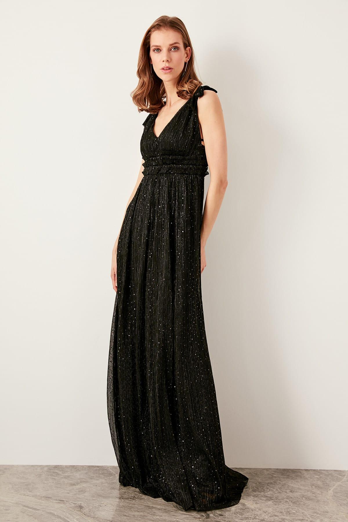 Trendyol dámske večerné lesklé šaty
