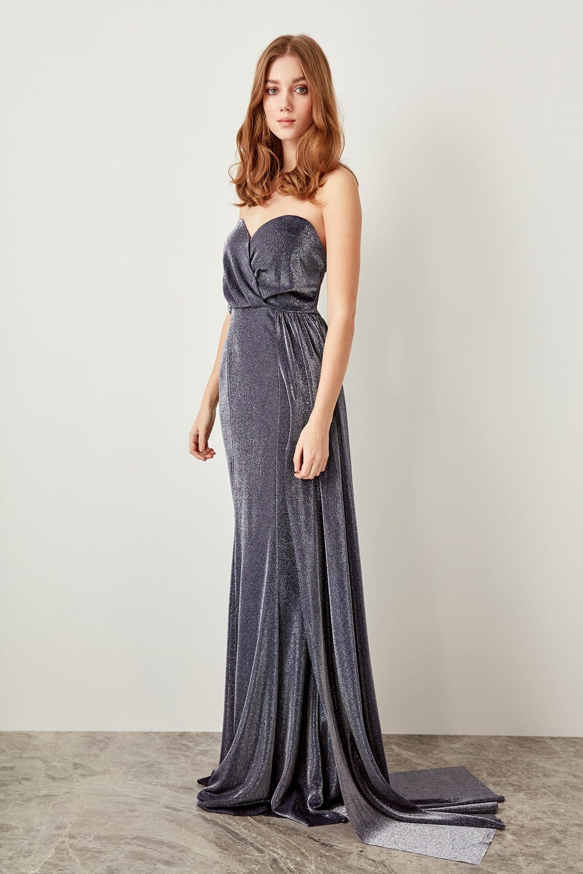 Trendyol dámske večerné trblietavé šaty