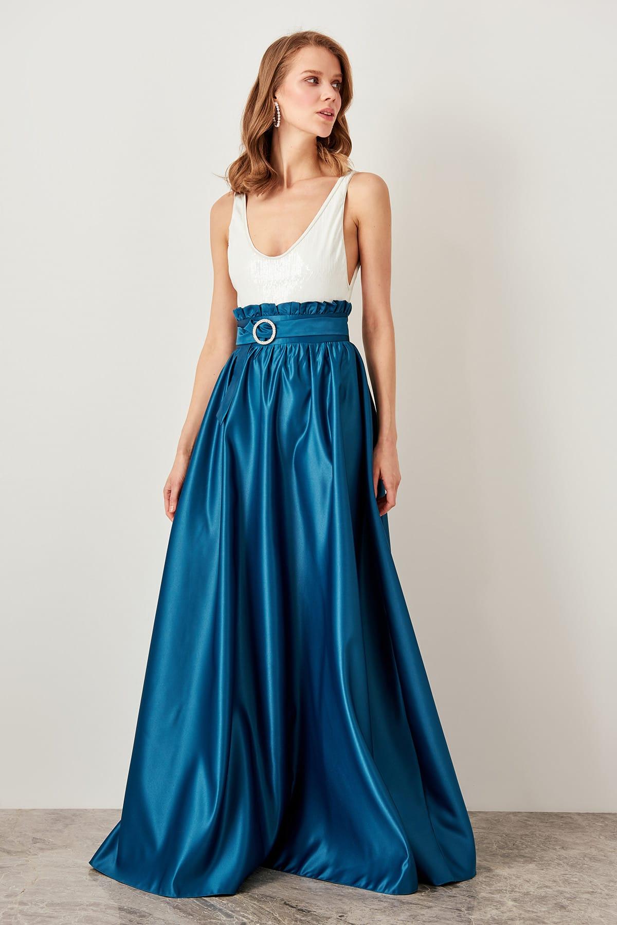 Trendyol High Waist Skirt Oil-Arched