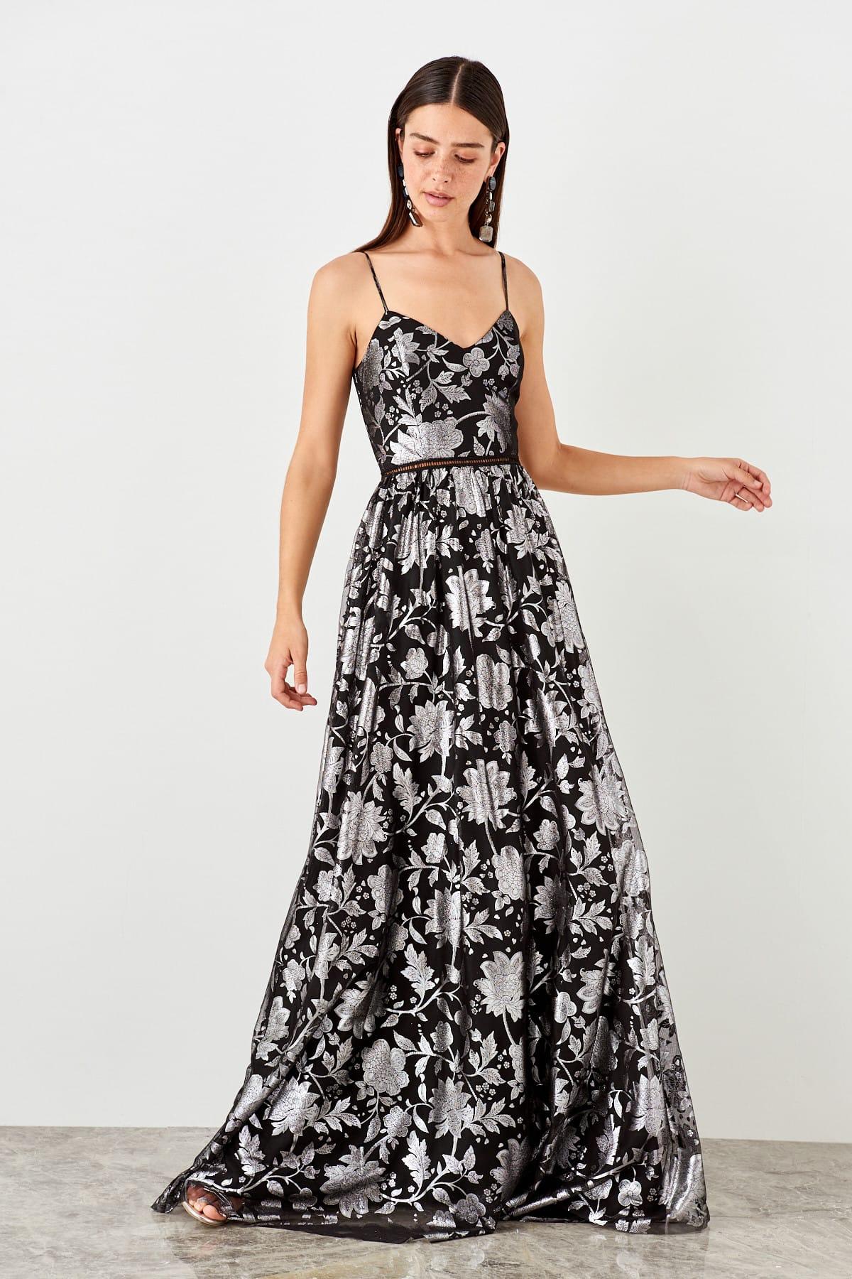 Trendyol dámske kvetinové večerné šaty