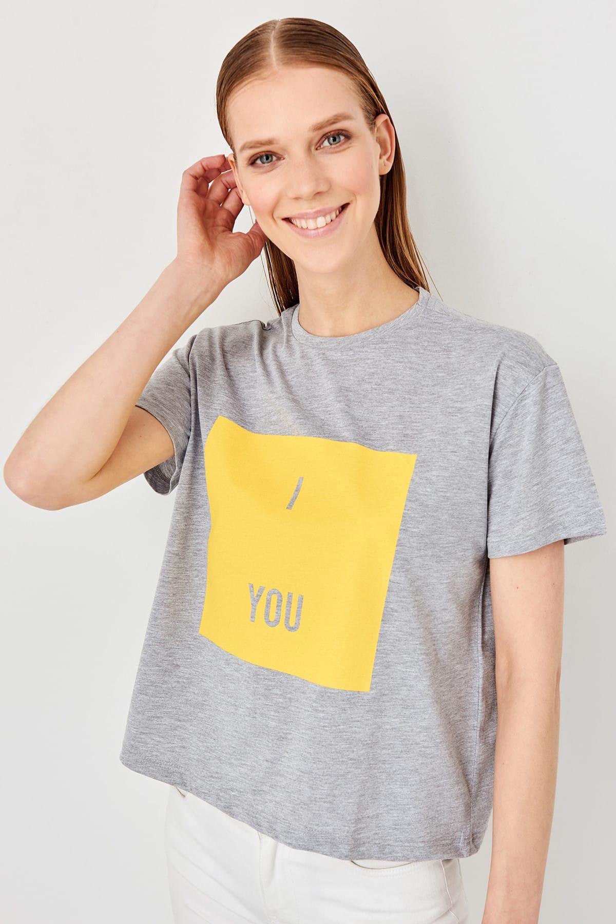 Trendyol Gray Basic Knitting t-shirt