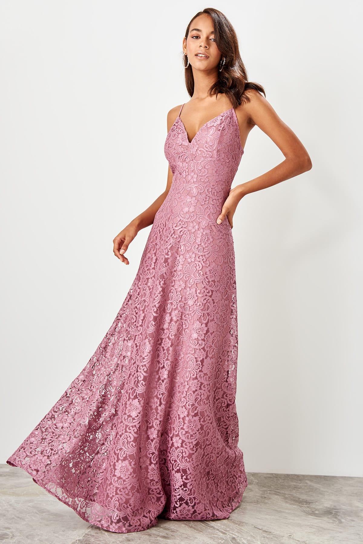Trendyol dámske čipkované večerné šaty