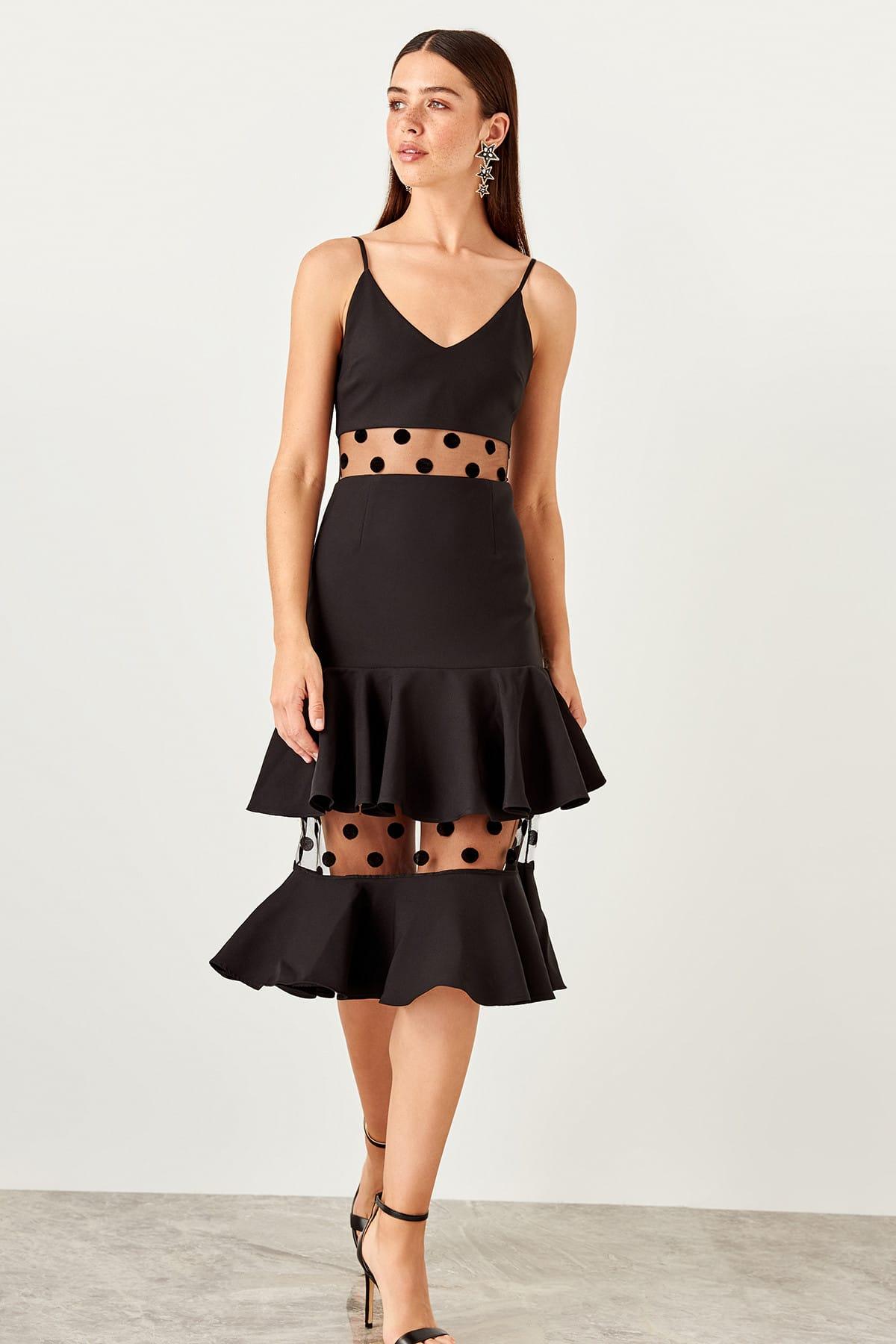 Trendyol dámske šaty s volánmi