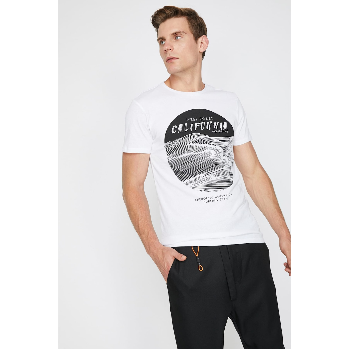 Koton Man White T-Shirt
