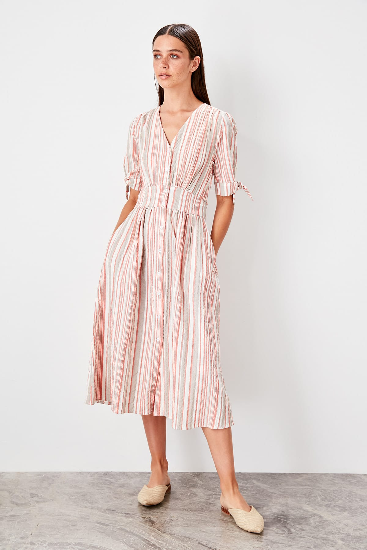 Trendyol Red striped Dress