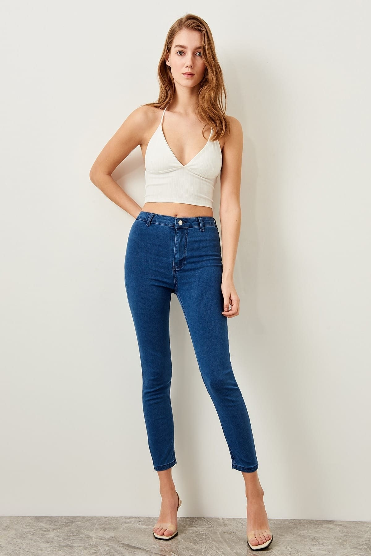 Trendyol Blue High Waist Jegging Jeans